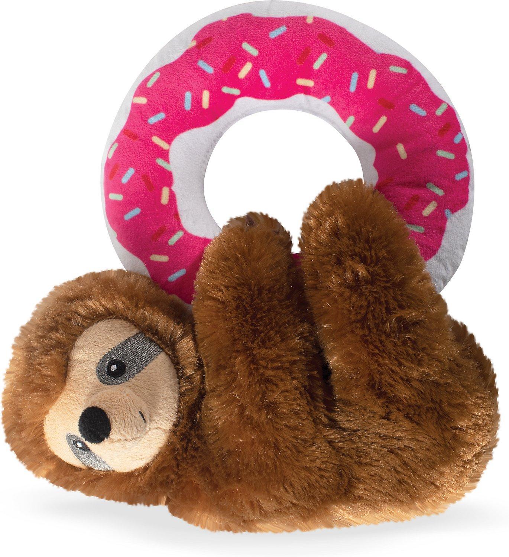 Pet Shop by Fringe Studio Donut Leave Me Hangin Sloth Plush Dog Toy