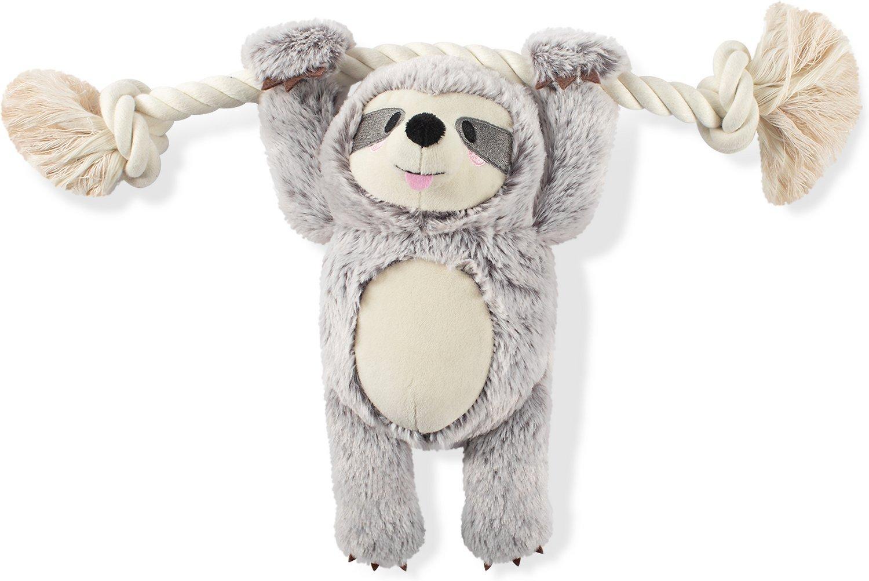 Pet Shop by Fringe Studio Girly Sloth On A Rope Plush Dog Toy