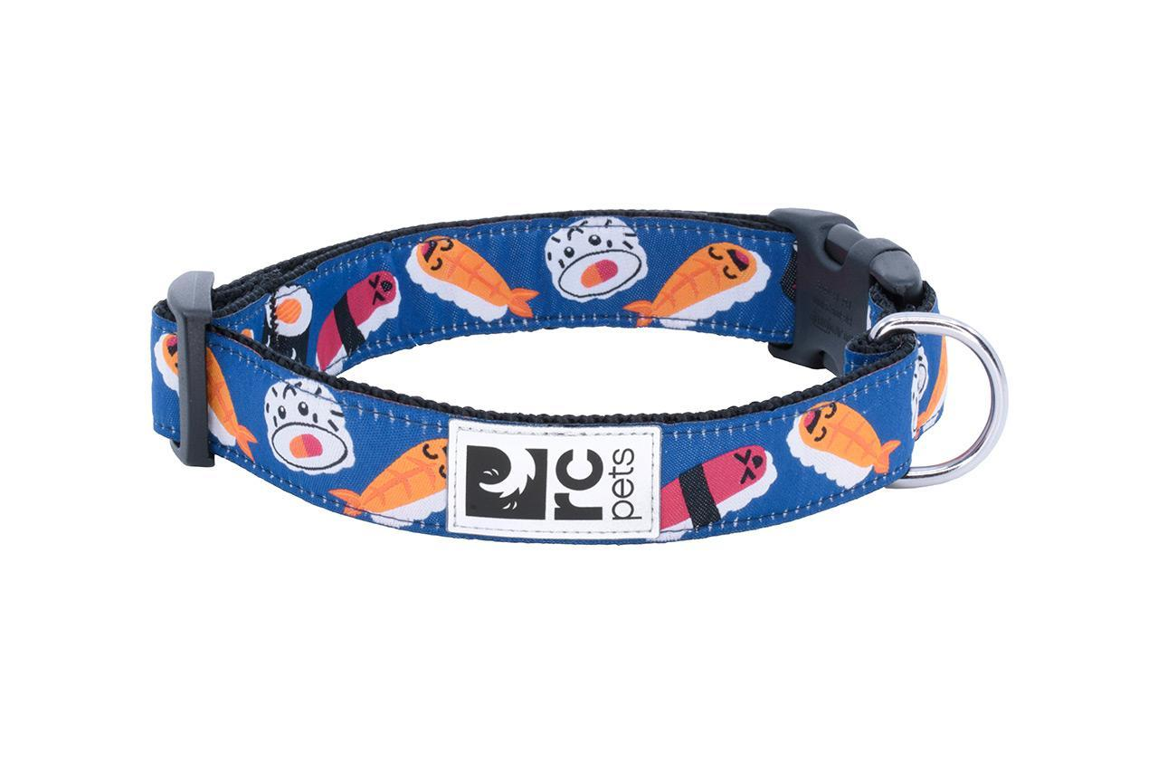 RC Pet Products Wide Clip Dog Collar, Sushi, X-Small