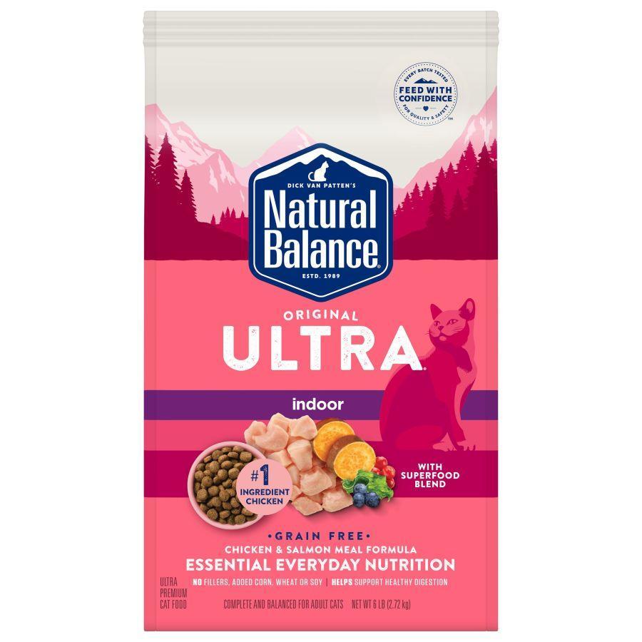 Natural Balance Original Ultra Indoor Chicken & Salmon Dry Cat Food, 6-lb