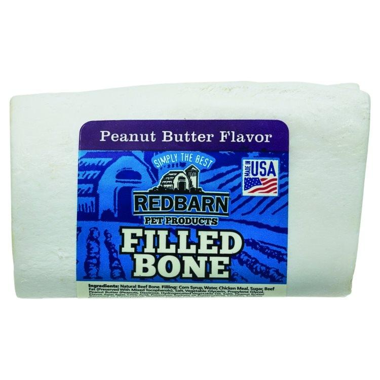 Redbarn Peanut Butter Filled Bone Dog Treats, 3-in