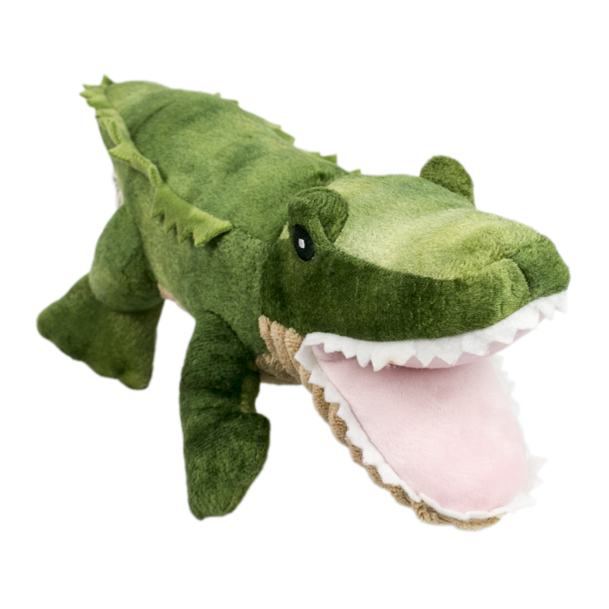 Tall Tails Crunch Gator Dog Toy, 15-in