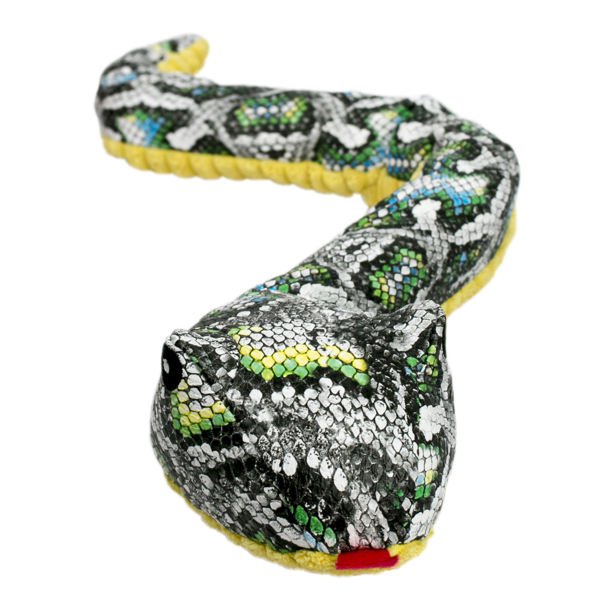 Tall Tails Crunch Snake Dog Toy, 23-in