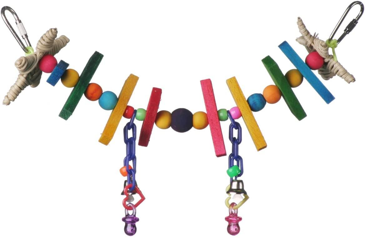 Super Bird Creations Mini Rainbow Bridge Bird Toy Image
