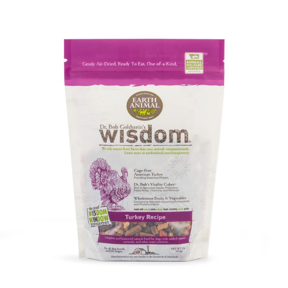Earth Animal Wisdom Turkey Dry Dog Food, 1-lb