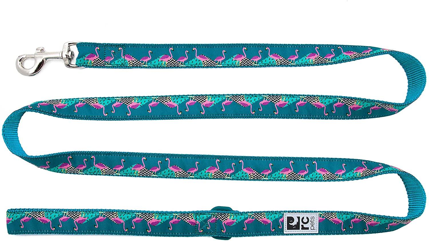 RC Pet Products Dog Leash, Flamingo, 3/4-in x 6-ft