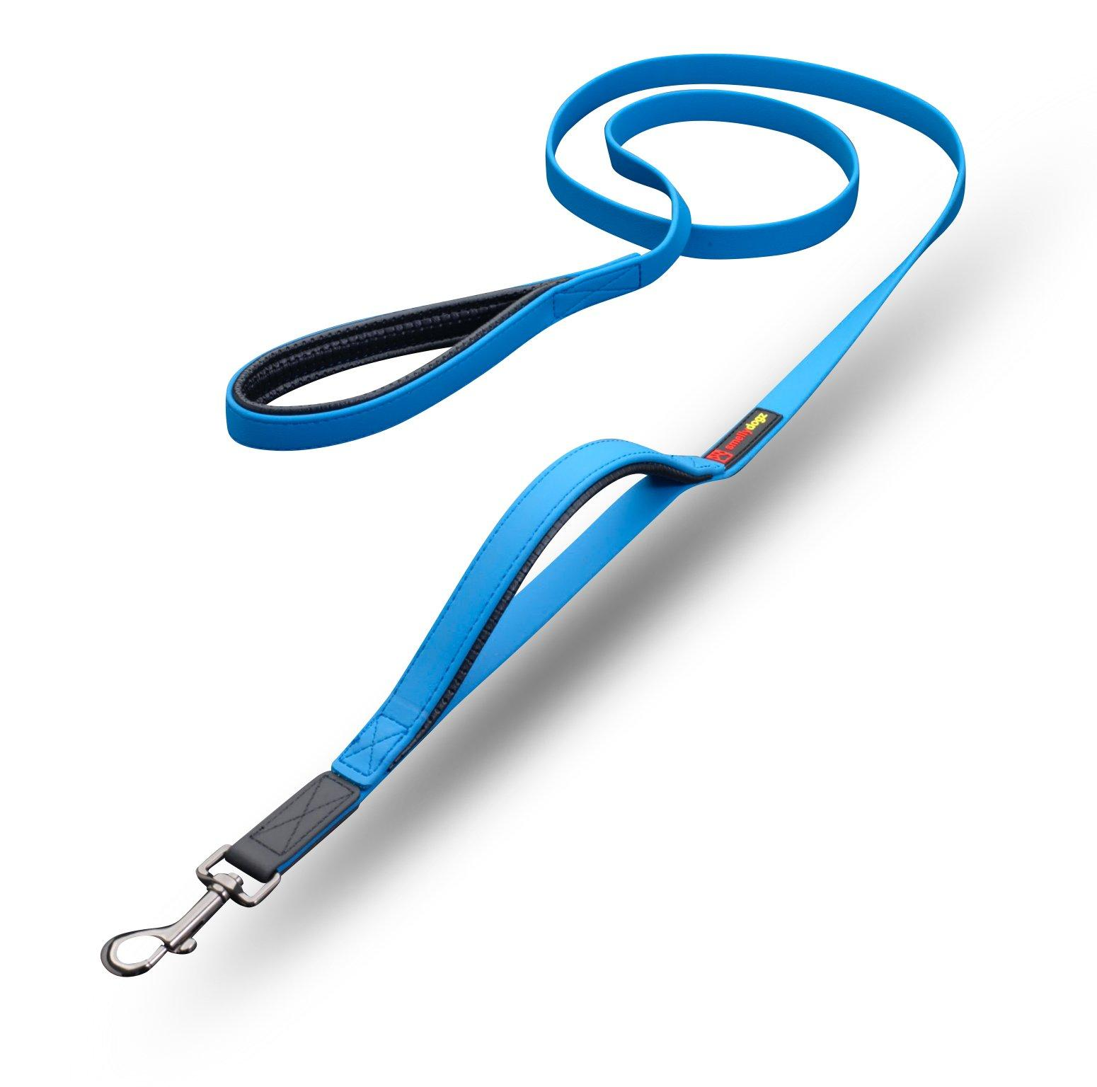 smellydogz Double Handle Dog Lead, Blue Image