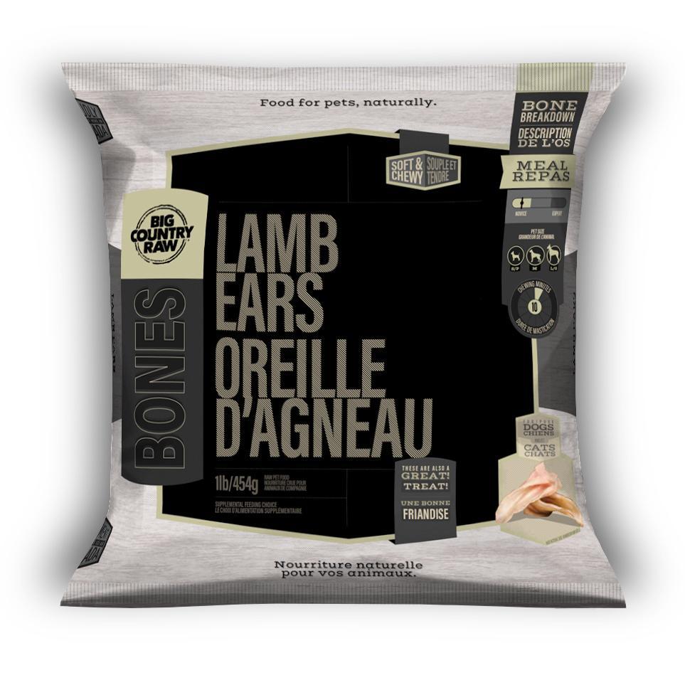 Big Country Raw Lamb Ears Dog Treats, 1-lb