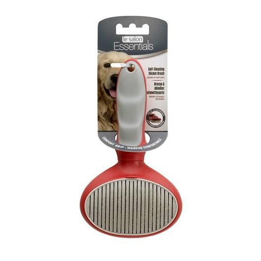 Le Salon Essentials Self-Cleaning Slicker Dog Brush Image