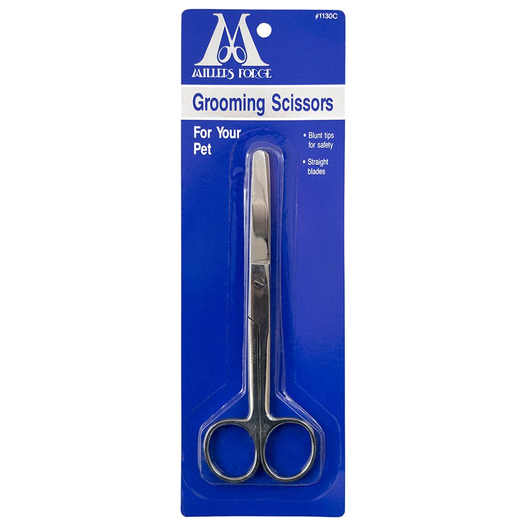 Millers Forge Straight Blunt Tip Grooming Scissors for Pets, 5.75-in