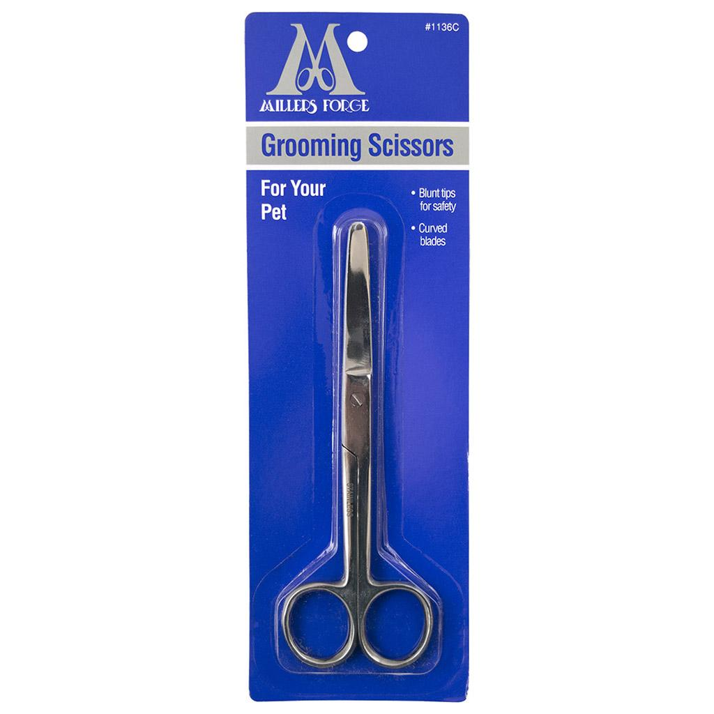 Millers Forge Curved Blunt Tip Grooming Scissor for Pets Image