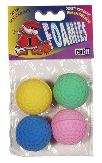 Catit Foamies Balls Cat Toy, 4-pk