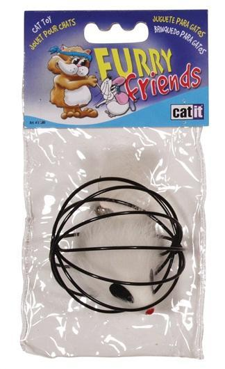 Catit Furry Friends Wireball with Mouse Cat Toy Image