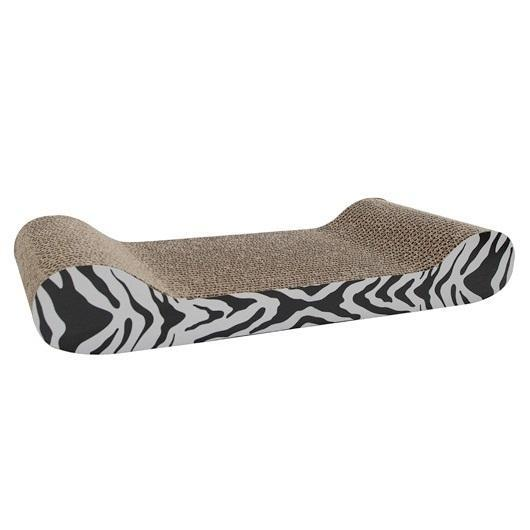 Catit Style Patterned Lounge Cat Scratcher, White Tiger Image