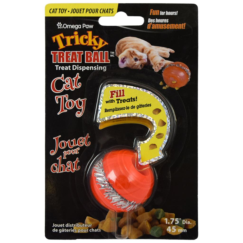 Omega Paw Tricky Treat Ball Dispenser Cat Toy Image
