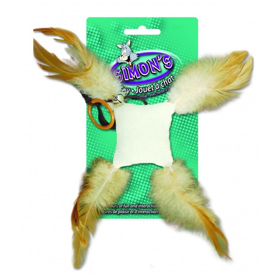 Burgham Simon's Bag Feather Catnip Cat Toy