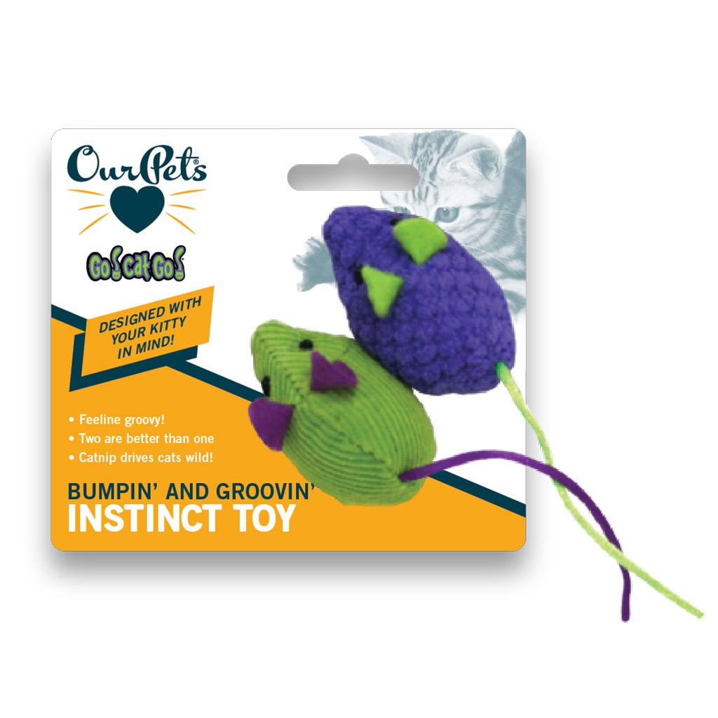 OurPets Go! Cats! Go! Bumpin' & Groovin' Mice Cat Toy Image