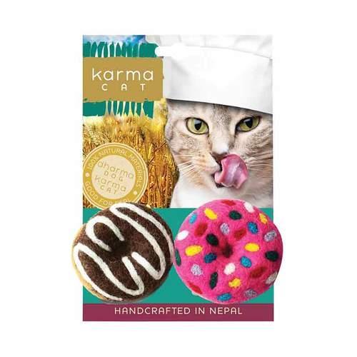 Dharma Dog Karma Cat Donut Cat Toy, 2-pk