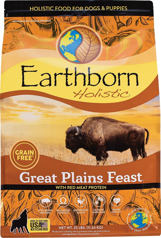 Earthborn Holistic Great Plains Feast Grain-Free Dry Dog Food, 25-lb