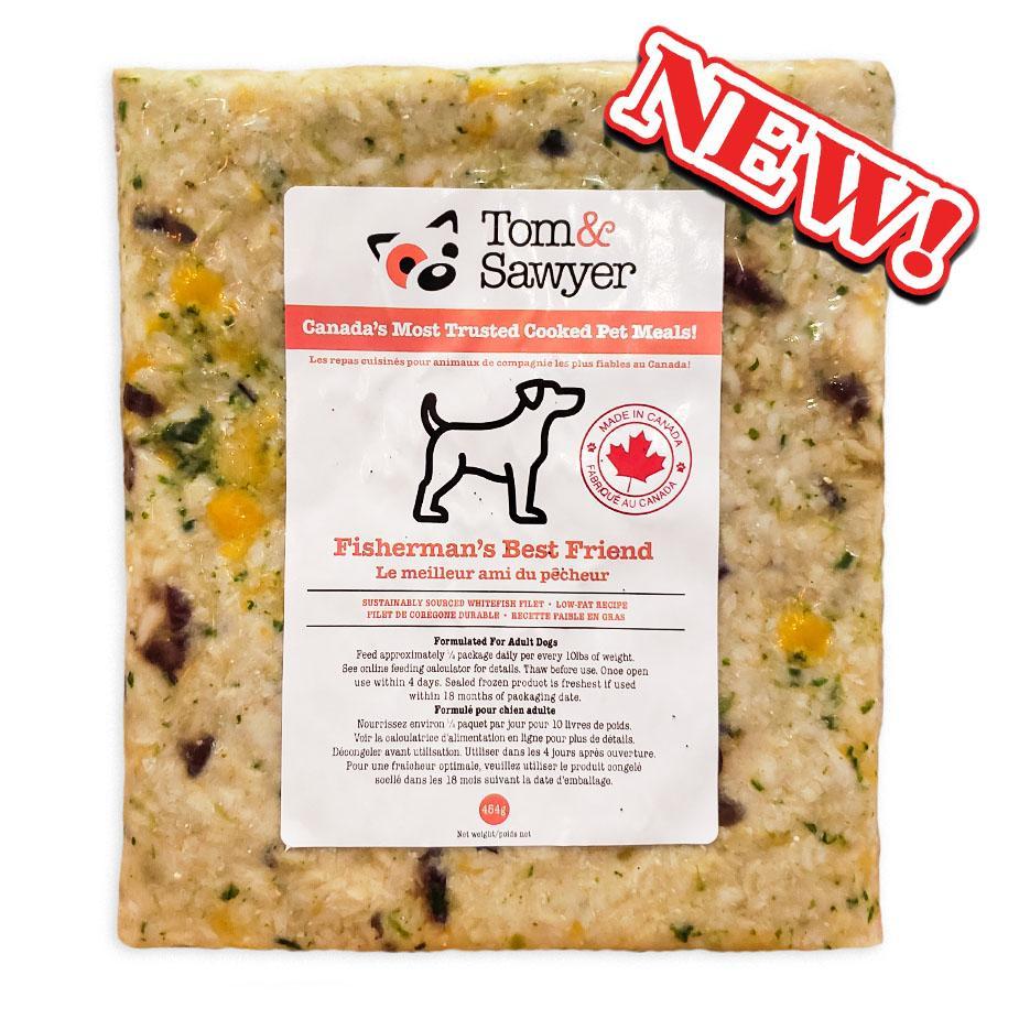 Tom&Sawyer Fisherman's Best Friend Frozen Dog Food, 454-gram