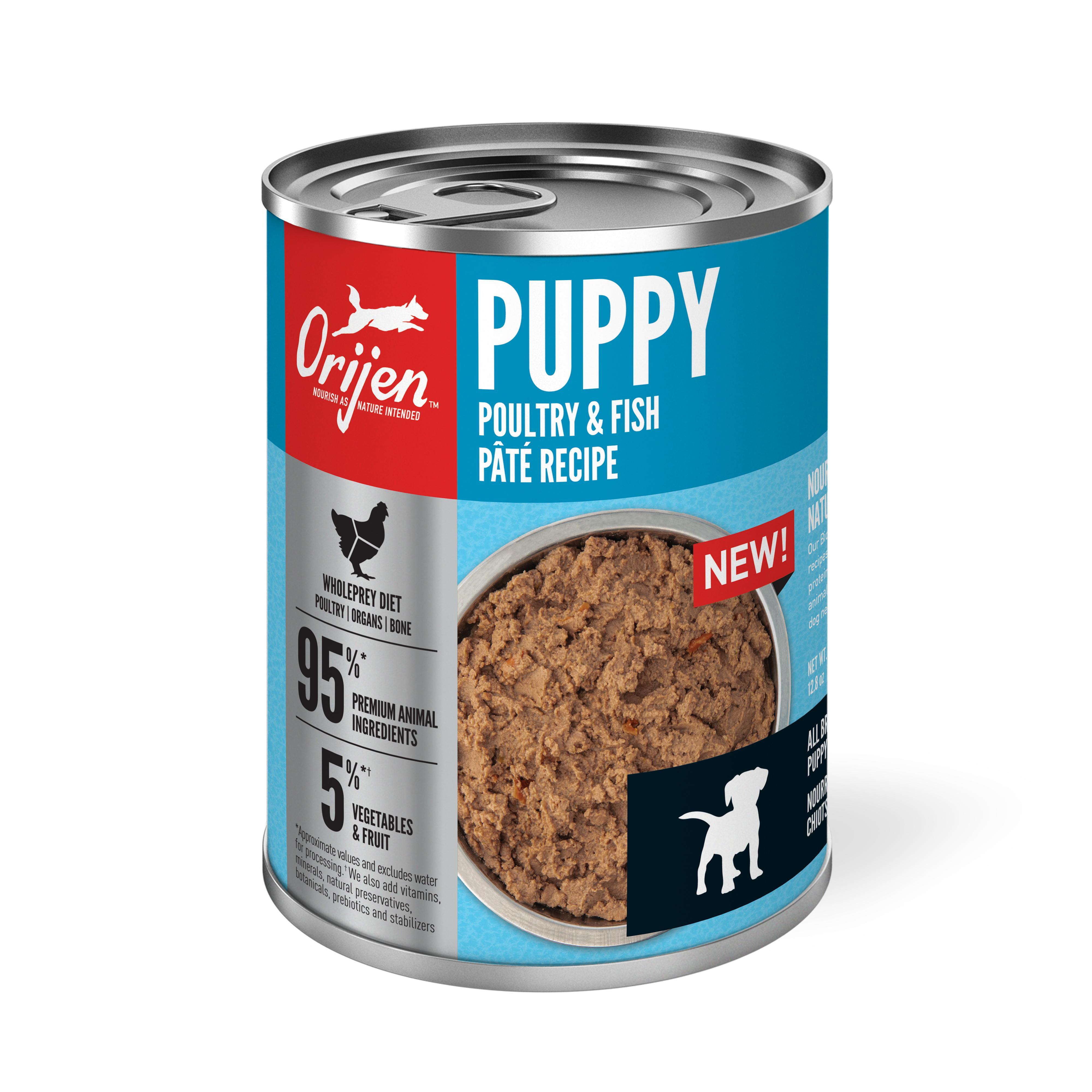 ORIJEN Puppy Poultry & Fish Pate Wet Dog Food Image