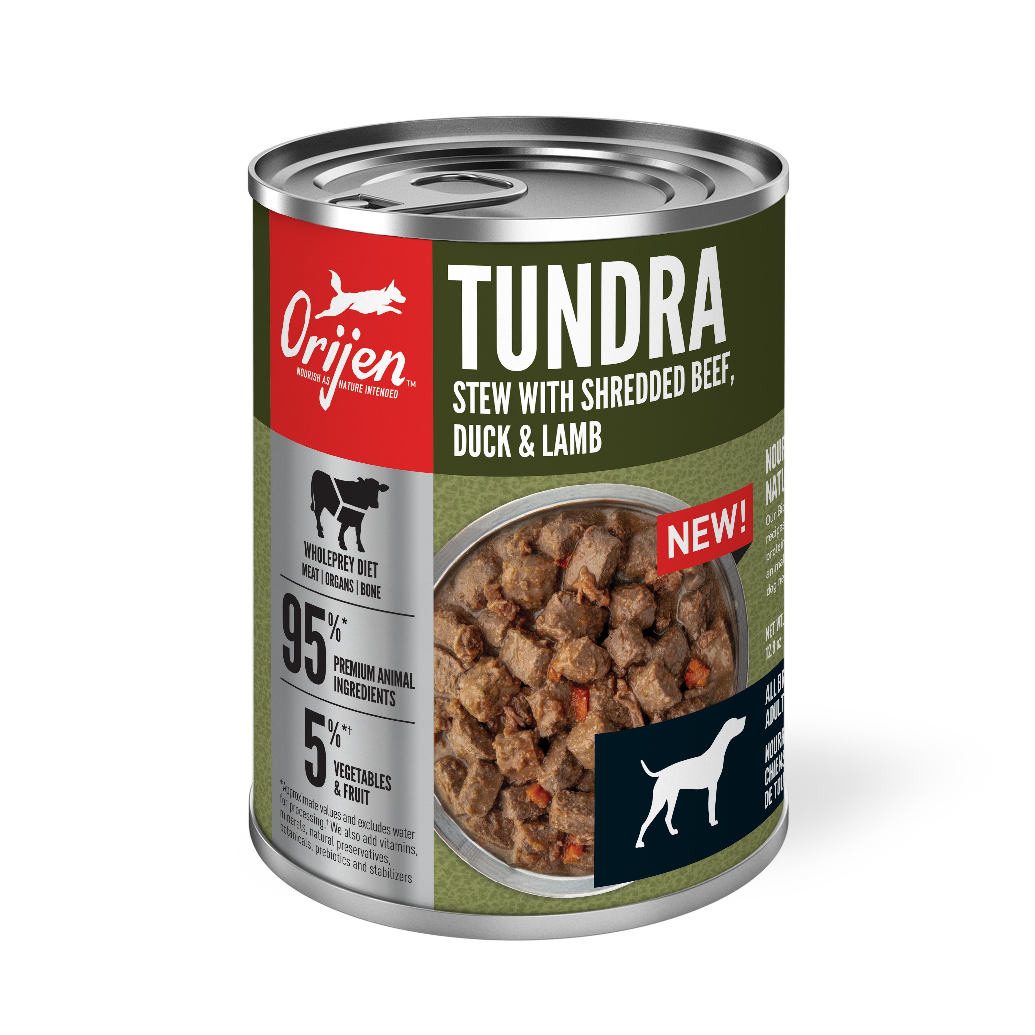 ORIJEN Tundra Stew with Shredded Beef, Duck & Lamb Wet Dog Food Image