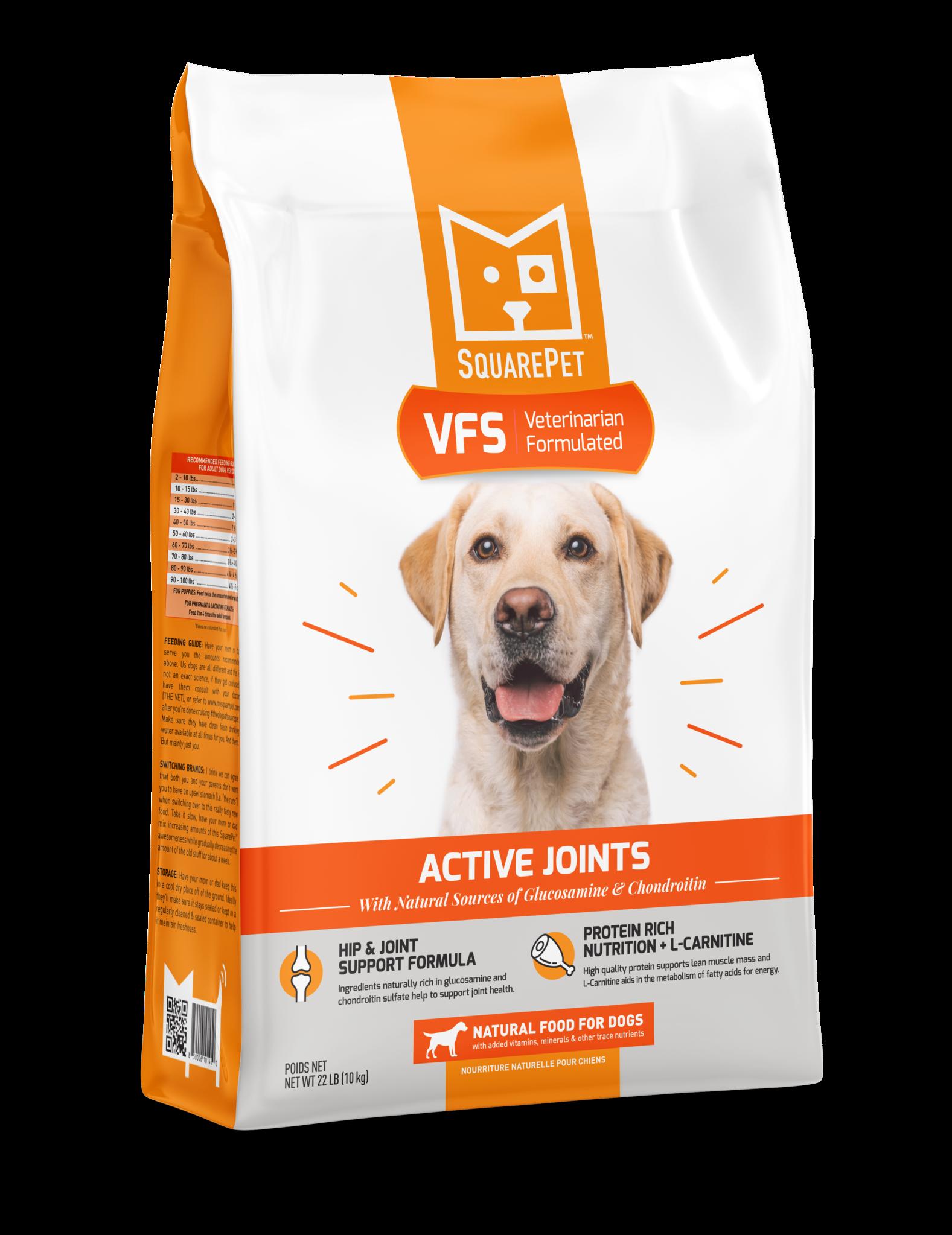 SquarePet VFS Active Joints Dry Dog Food, 4.4-lb