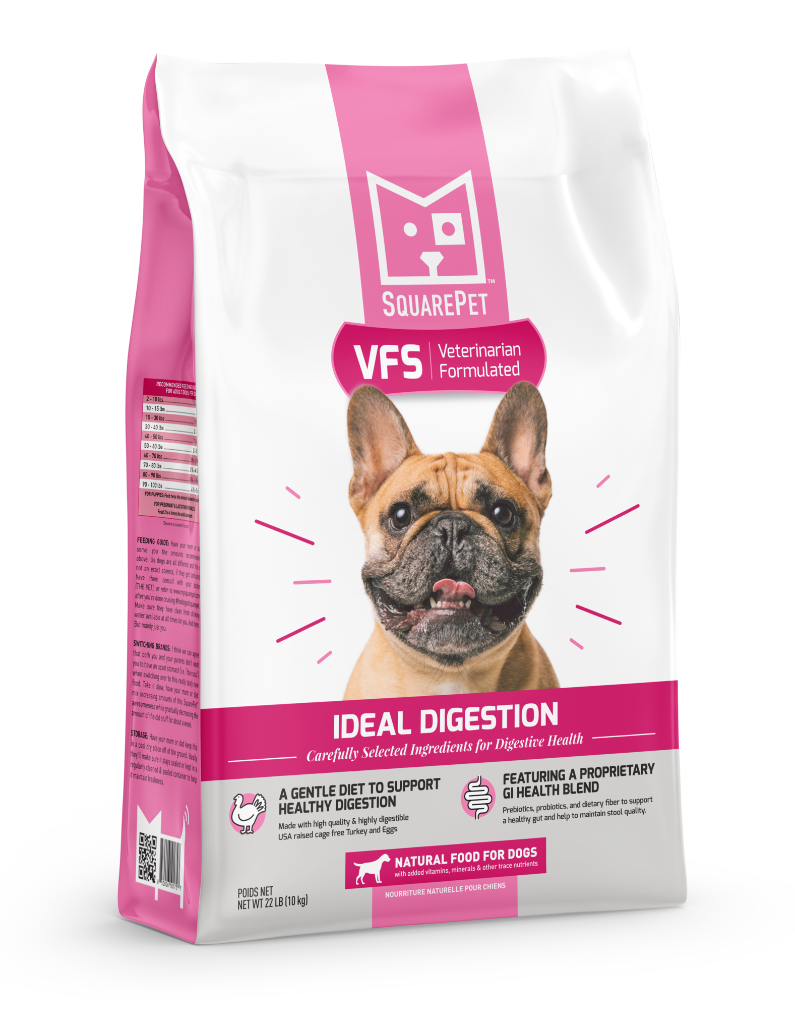 SquarePet VFS Ideal Digest Dry Dog Food, 22-lb