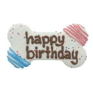 Bosco & Roxy's Happy Birthday Bone with Sprinkles Dog Treats, 6-in