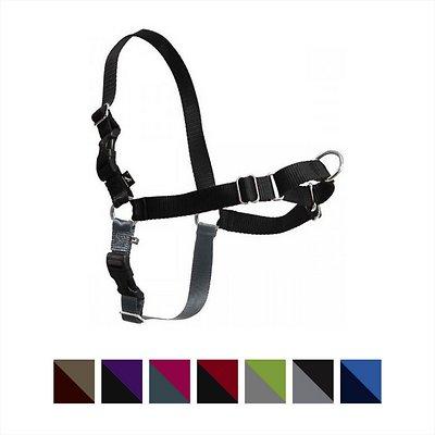 PetSafe Easy Walk Dog Harness, Black/Silver, Large