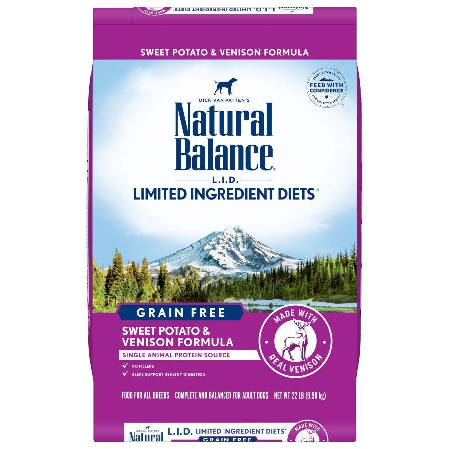 Natural Balance L.I.D. Limited Ingredient Diets Sweet Potato & Venison Formula Grain-Free Dry Dog Food, 22-lb