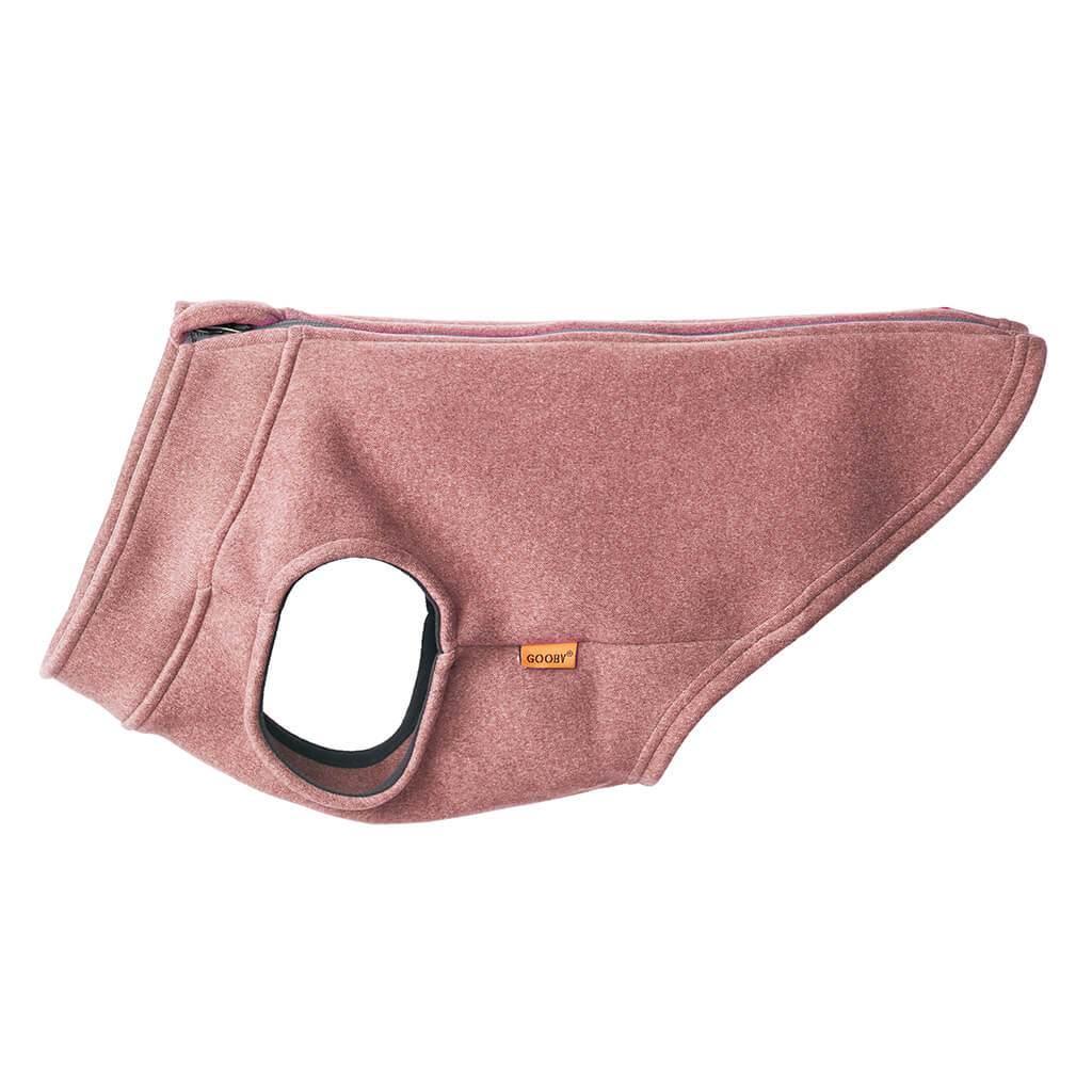 Gooby Zip Up Microfiber Fleece Dog Vest, Pink, X-Small