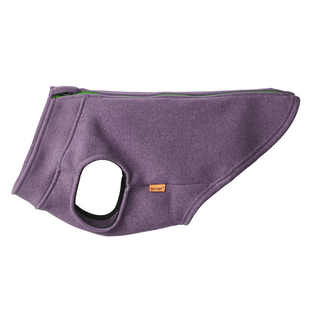 Gooby Zip Up Microfiber Fleece Dog Vest, Purple, Large