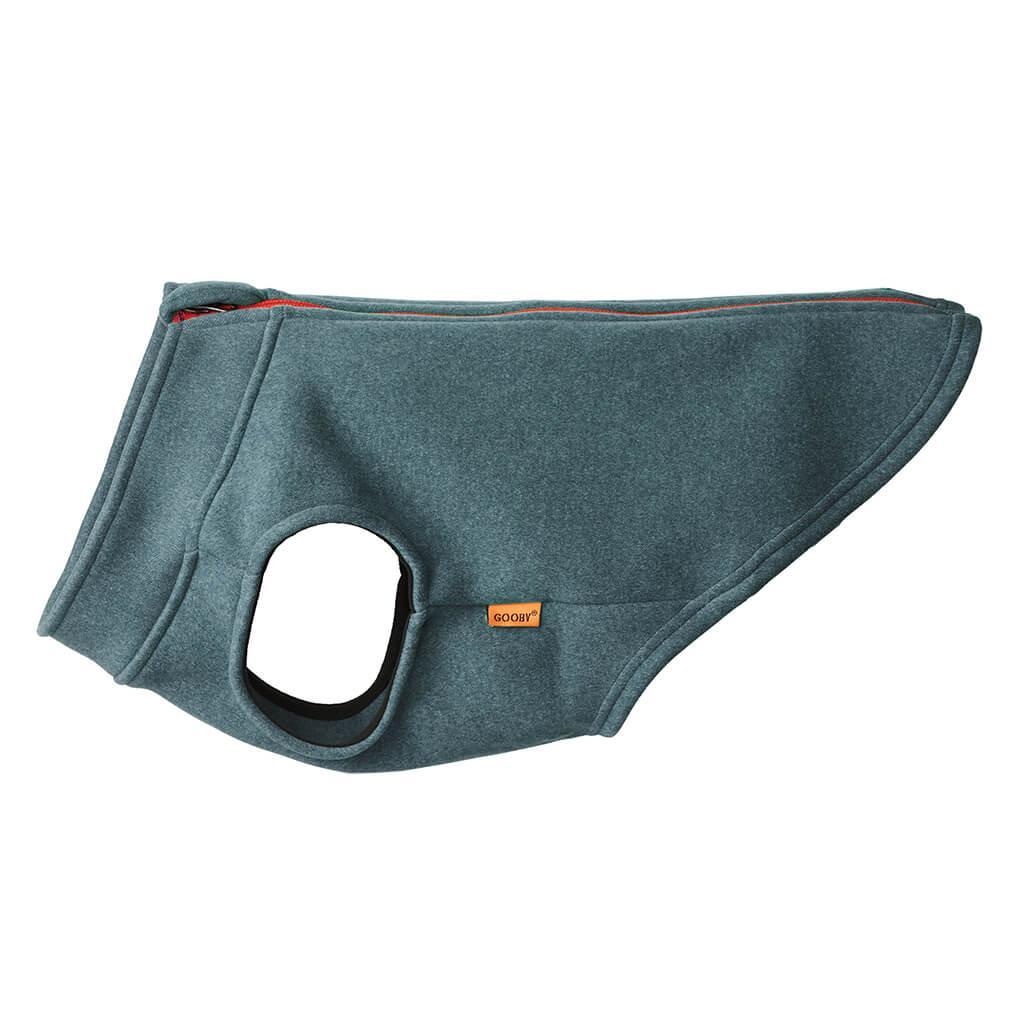 Gooby Zip Up Microfiber Fleece Dog Vest, Turquoise, X-Small