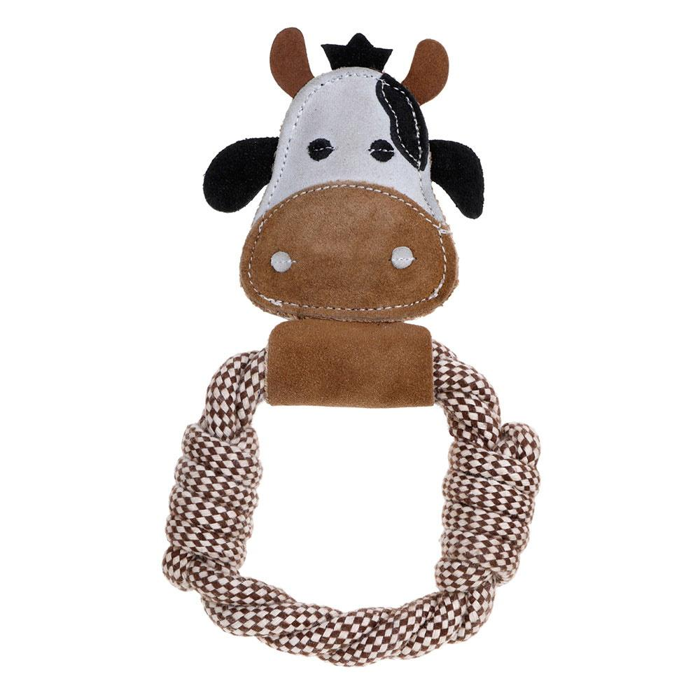 Country Tails Farm Animals Daisy Cow Rope Ring Dog Toy