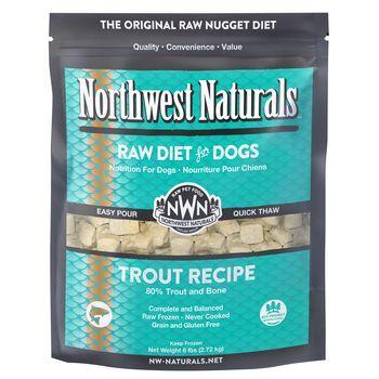 Northwest Naturals Trout Nuggets Frozen Dog Food, 6-lb