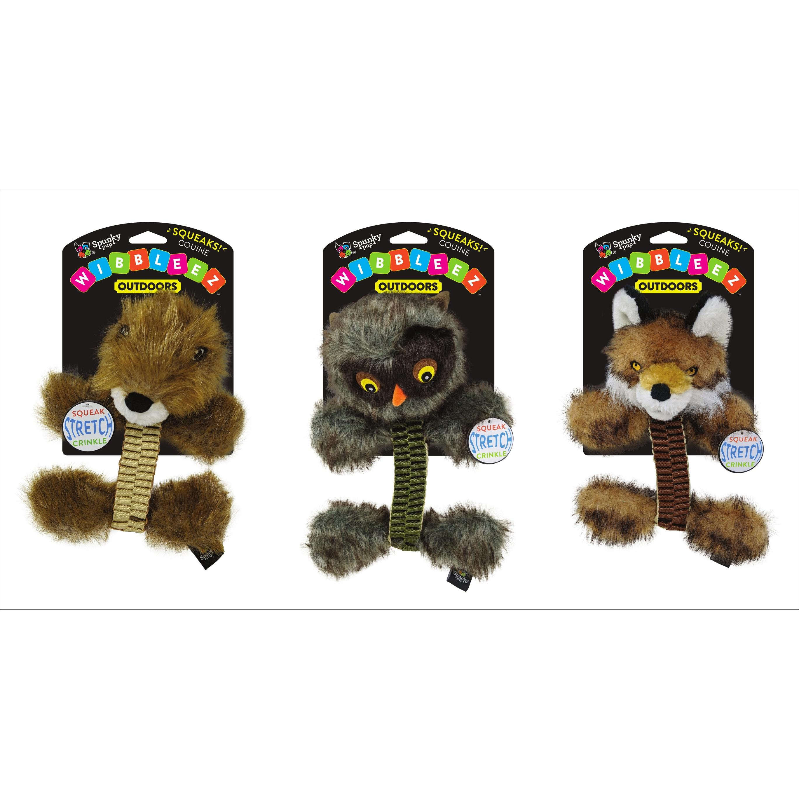 Spunky Pup Wibbleez Straight Outdoors Dog Toy, Character Varies
