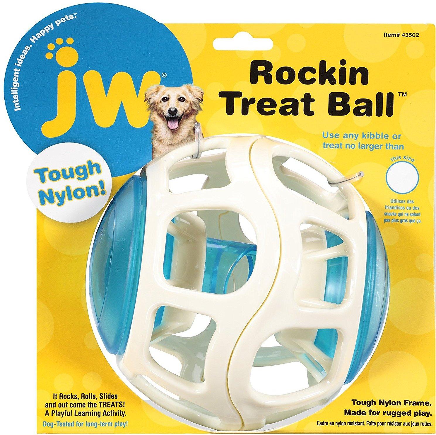 JW Pet Rockin Treat Ball Dog Toy