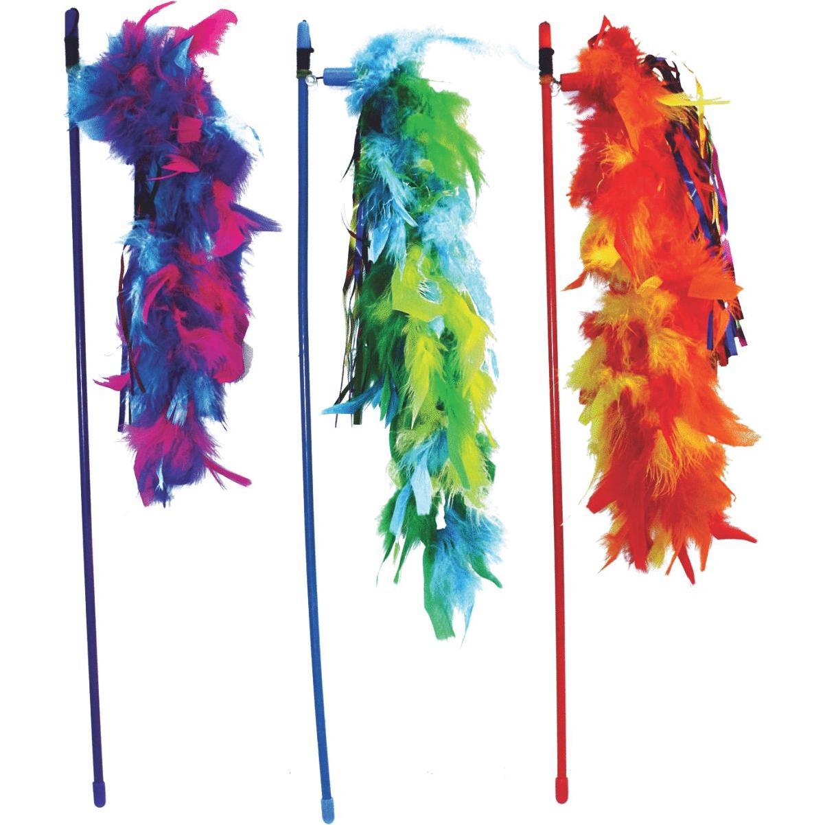 Multipet Cat Dangler Wand, Assorted Colors