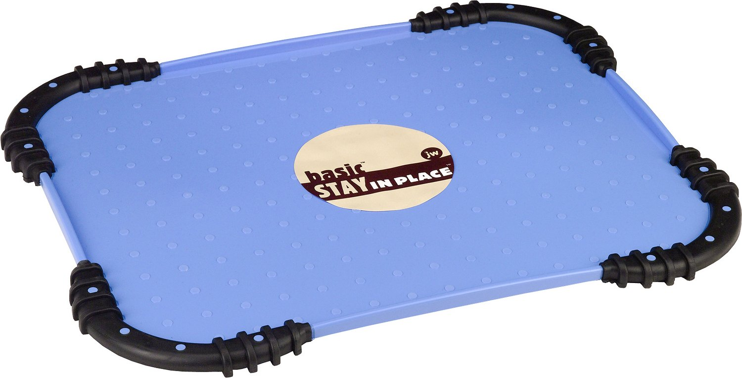 JW Pet Stay in Place Mat for Dogs & Cats, Color Varies