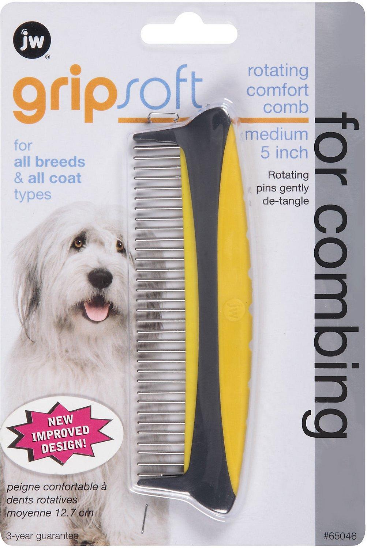 JW Pet Rotating Comfort Dog Comb, Medium