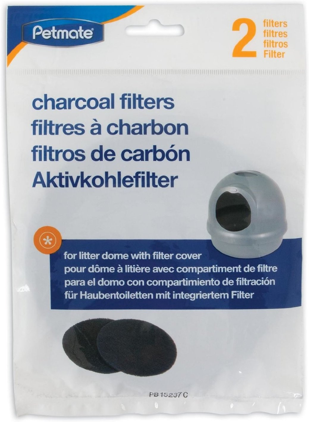 Petmate Booda Litter Box Charcoal Air Filters - Dome