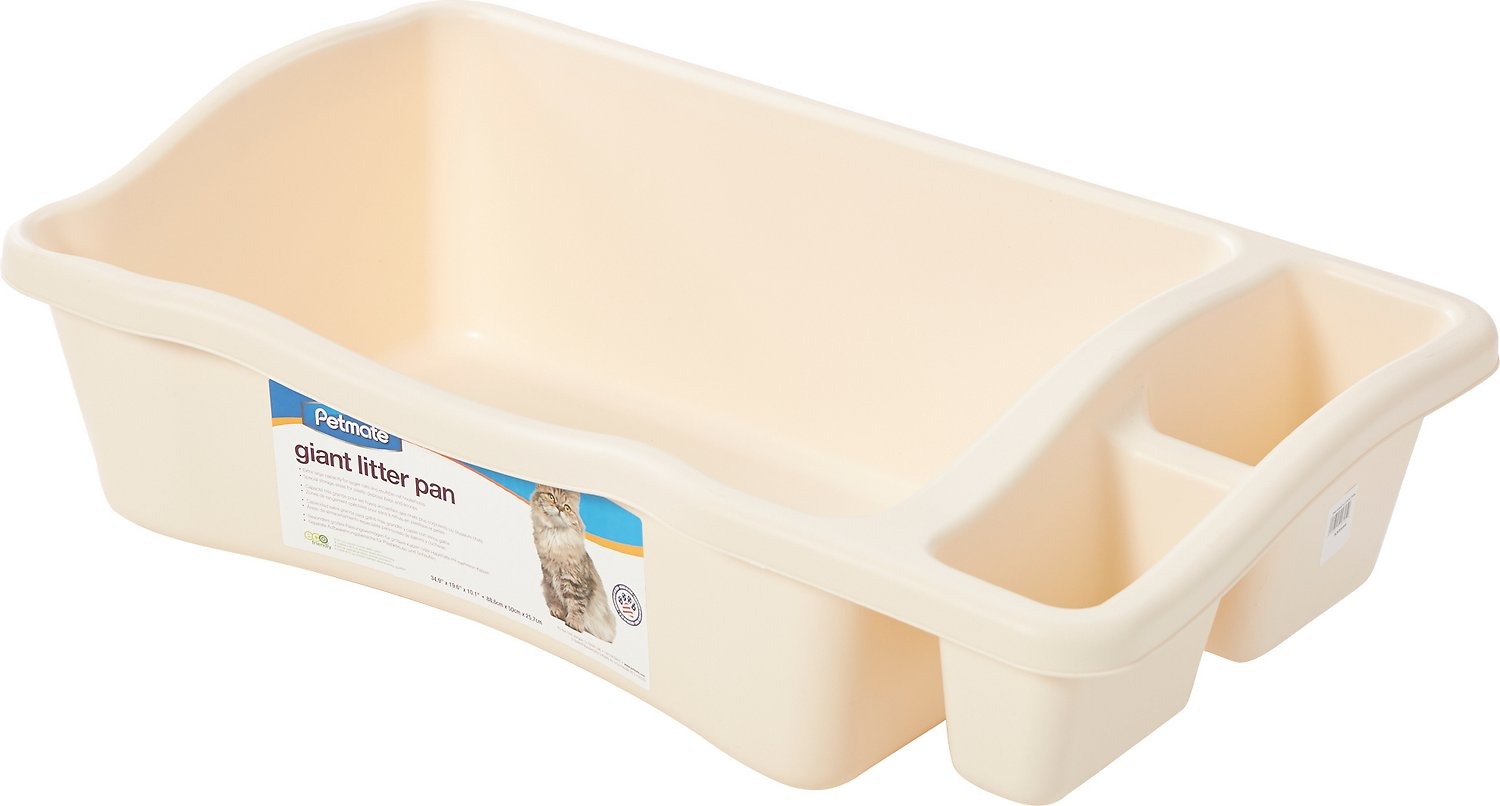 Petmate Giant Litter Pan with Microban, Bleached Linen, Giant
