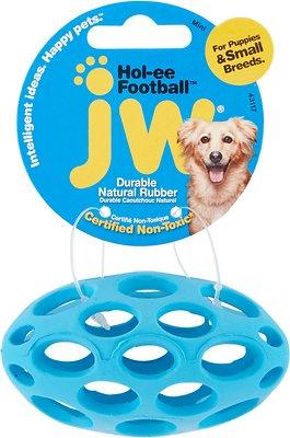 JW Pet Hol-ee Football Dog Toy, Color Varies, Mini