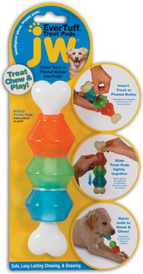 JW Pet Nylon Treat Pod Dog Toy, Small