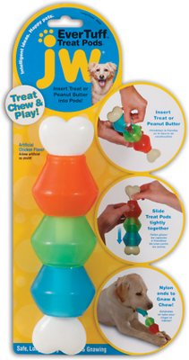 JW Pet Nylon Treat Pod Dog Toy, Large