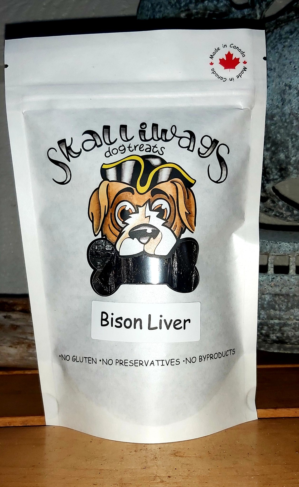 Skalliwags Bison Liver Dog Treat, 90.7-gram