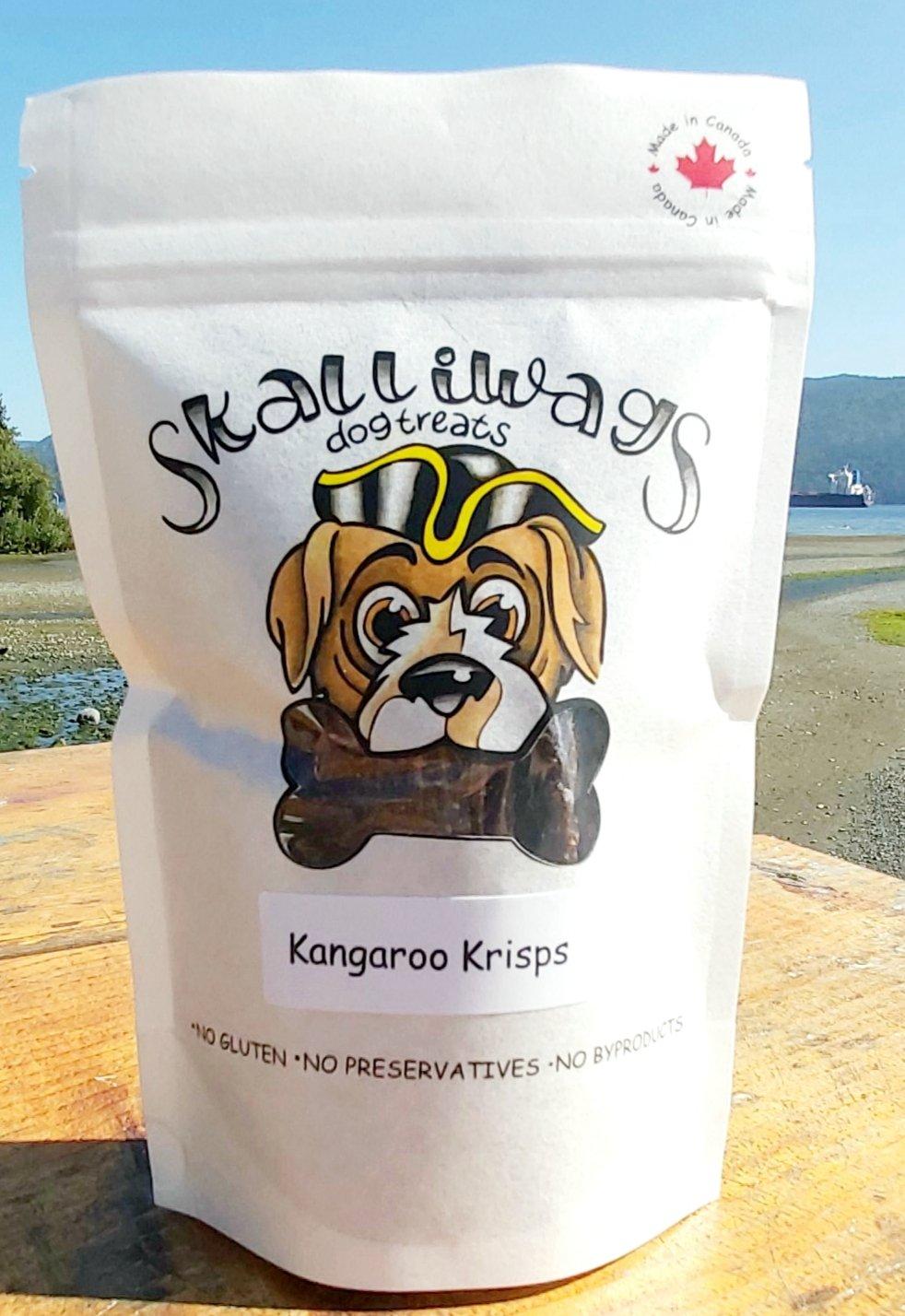 Skalliwags Kangaroo Krisps Dog Treat, 65-gram