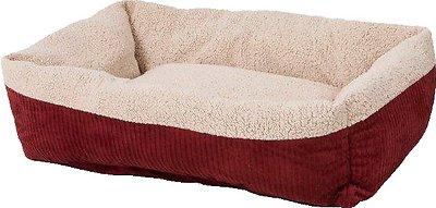 Aspen Pet Self Warming Pet Bed, Warm Spice/Cream, 35-in