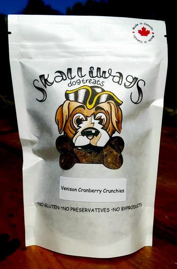 Skalliwags Venison Cranberry Dog Treat Crunchies Image
